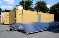 Arla's mobile milk powder packaging unit will be powered by nearly 100 solar panels.