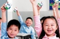 Chinese schools children with Tetra Pak cartons.