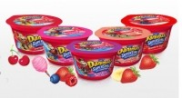 Each 113g (4oz) pot of new kids' Greek yogurt Danimals Superstars has 110 calories, 14g sugar, 10g protein, and is a good source of calcium and vitamin D