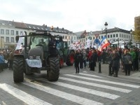 More than 3,500 farmers and 1,00 tractors descended on the Belgian capital to protest.